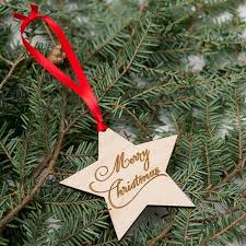 Mini Wooden Christmas Tree Decorations wholesale christmas tree decorations wooden christmas pentagram