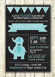 blue elephant baby boy printed chalkboard personalized baby shower