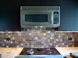Tumbled Slate Backsplash by The Kester House U0026 Garden Interior Kitchen
