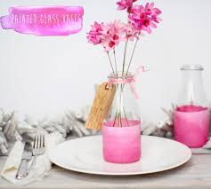 Decorate A Vase Think Pink Painted Bottle Vases