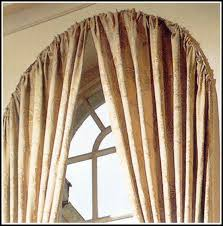 curved curtain rod for eyebrow window curtains home design