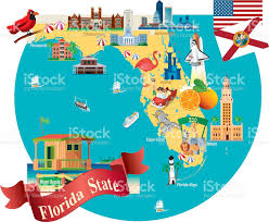 Map Florida Keys by Cartoon Map Of Florida Stock Vector Art 472362985 Istock