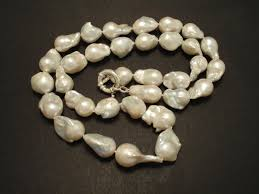 large pearl necklace images Long large freshwater baroque pearl necklace christopher william jpg
