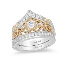 cinderella engagement ring enchanted disney cinderella 3 4 ct t w diamond crown bridal set