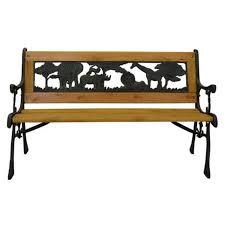 amazon com home and garden hgc junior safari kids park bench