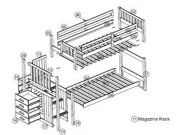 Free Plans For Building Bunk Beds by Twin Bunk Bed Plans For Best Of Build A Bunk Bed Jays Custom