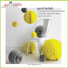 yellow color combination free shipping hot paper decoration grey and yellow color combination