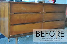 modern home furniture furniture double walnut wood mid century dresser in two sizes