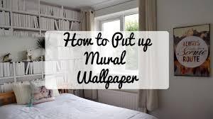How To Design A Bookshelf by How To Put Up A Bookshelf Mural U0026 Wallpaper Youtube