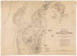 Gettysburg Map Elliott U0027s Map Of The Battlefield At Gettysburg Pennsylvania