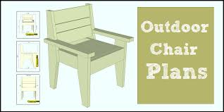Outdoor Table Plans Free by Outdoor Chair Plans Easy To Build Free Pdf Construct101