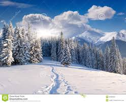 beautiful winter landscape in mountains stock photo image 35689630