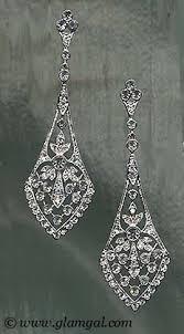 Cubic Zirconia Chandelier Earrings Vintage Style Chandelier Earrings Genuine Cubic Zirconia