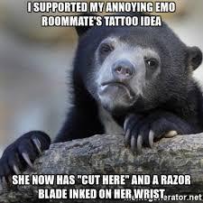 Tattoo Idea Generator I Supported My Annoying Emo Roommate U0027s Tattoo Idea She Now Has