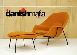 Lounge Chair Ottoman Authentic Mid Century Modern Eero Saarinen Knoll Womb Lounge Chair