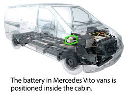 mercedes vito van battery location car batteries