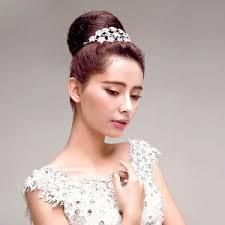 bijoux tete mariage blanc strass de luxe classique mariée coiffure fleur tete