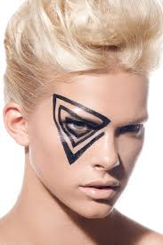 Cool Makeup Designs This Would Be Way Cool Colorguard Makeup Paint Me Beautiful