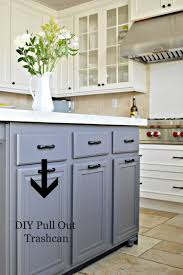 cabinet pull out trash bin turn a door and drawer into pull out