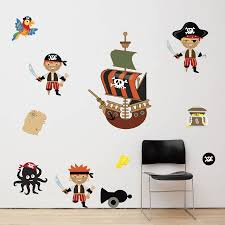 boys wall stickers all about pirates boys wall stickers mirrorin notonthehighstreet com