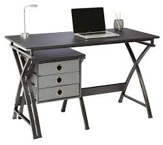 Black Desk With File Drawer Brenton Studio X Cross Desk And File Set Black By Office Depot
