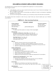 Simple Resume Format For Students Basic Resume Objective Examples