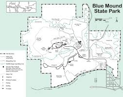 Wisconsin Campgrounds Map by Blue Mounds State Park Maplets