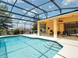 Covered Lanai Lilleypadflorida 5 Bed 4 Bath Villa With Solar Heated Private