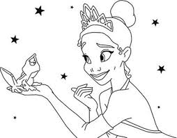 Princess Tiana Talking To Frog In Princess And The Frog Coloring Princess And The Frog Colouring Pages