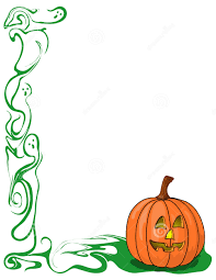 free pumpkin border clipart collection