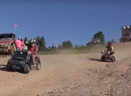 barbie jeep extreme barbie jeep racing is as crazy as it sounds
