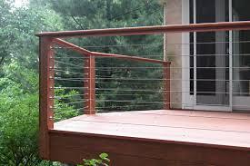 Patio Rails Ideas Wire Deck Railing For Balcony The Latest Home Decor Ideas