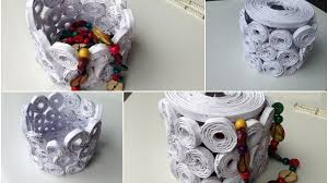 how to make newspaper boxes best out of waste newspaper crafts