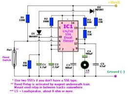 two tone train horn based ne556 dual timer circuit diagrams a