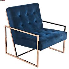 Navy Blue Velvet Accent Chair by Chairs Seating Living Modern Furniture