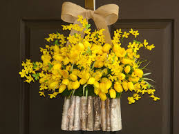 Easter Door Decorations Sale by Spring Wreath Easter Wreath Yellow Tulips Forsythia By Aniamelisa