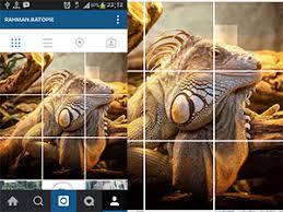 cara membuat instagram grid membuat potongan beberapa foto pada tilan instragram