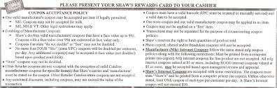 Home Depot Competitor Coupon Policy by Shaw U0027s Coupon Policy Darlene Michaud