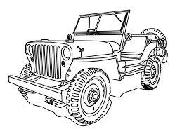 jeep safari white jeep coloring page