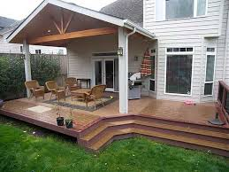 Rear Patio Designs Covered Patio Designs In The Backyard Lawnpatiobarn
