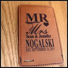 personalized wedding items luggage tag mr and mrs leather vegan personalized groom