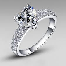 heart style rings images Style cubic zirconia heart 925 sterling silver platinum plated jpg