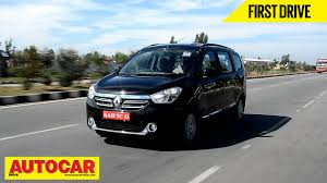 renault india 2015 renault lodgy mpv first drive video review autocar india