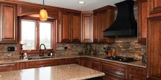 Attractive Kitchen Backsplash Cherry Cabinets Extraordinary Black - Backsplash for cherry cabinets