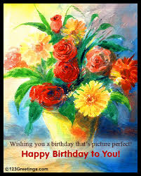 picture perfect birthday free flowers ecards greeting cards