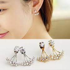 sided stud earrings online cheap 2015 fashion jewelry sided studs earrings for