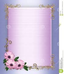 wedding invitation border purple flowers stock image image 8587961