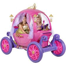 girls princess carriage bed 24v disney princess carriage ride on walmart com