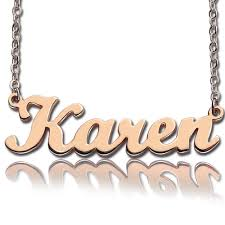 custom gold name necklace script name necklace gold