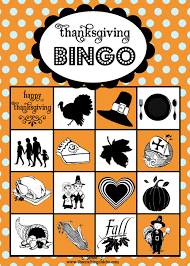 freebie thanksgiving bingo printable pizzazzerie